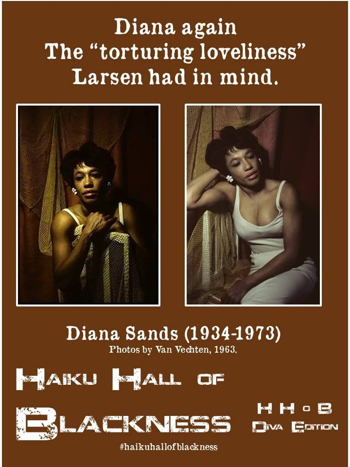 "Diana again/ The ""torturing loveliness""/ Larsen had in mind. #haikuhallofblackness by Rebecca Williams"