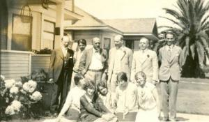 W.E. B. DuBois with the Organizing Committee of the San Diego NAACP, 1917 (San Diego NAACP)